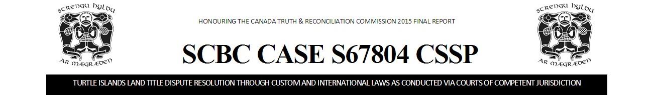 SCBC CASE S67804 CSSP