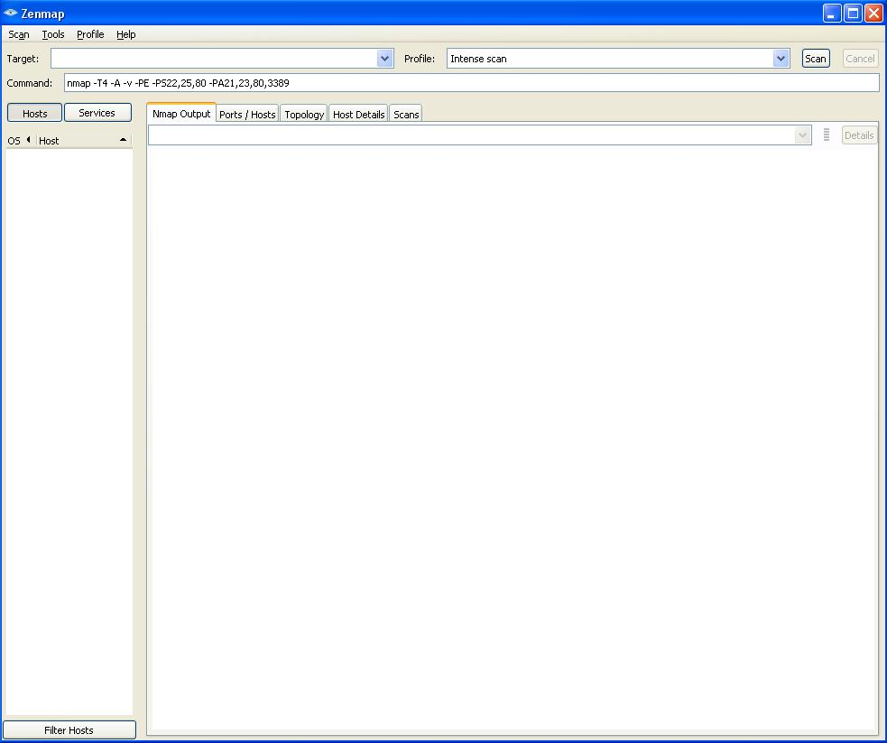 Windows command prompt nmap - Nmap Opening Screen