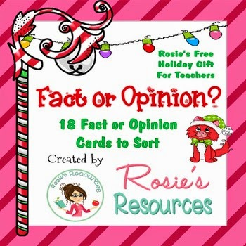 Christmas Fact or Opinion Rosie's Resources