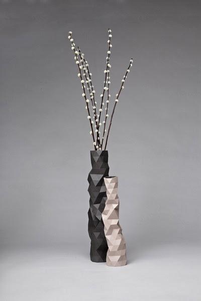 Jarrones facetados - faceted vases de phil cuttance