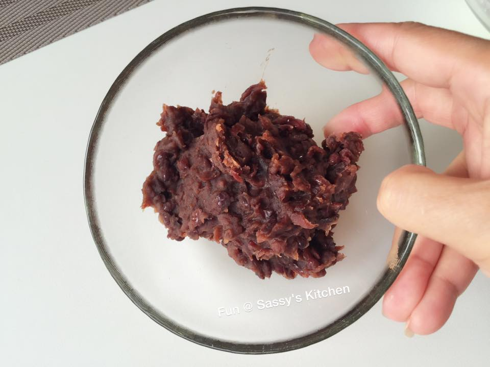 red bean paste and cake dough Traditional baked mooncakes filled with sesame seed or red bean paste and salted egg yolk  knead dough until smooth adding a little cake flour if necessary.