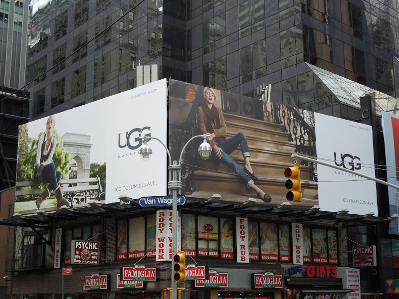 UGG billboards Times Square NYC