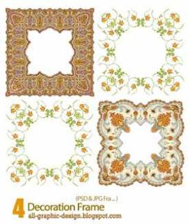 4 Decoration Frame Psd Photoshop