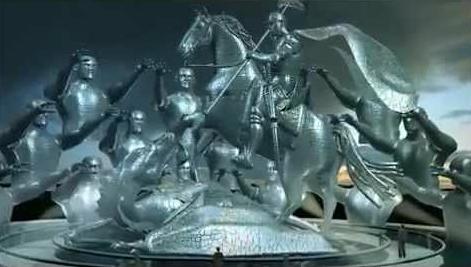 Maquete virtual de estátua de São Jorge do Itaquerão