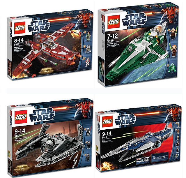Lego star wars 9497 9498 9500 9515 sets