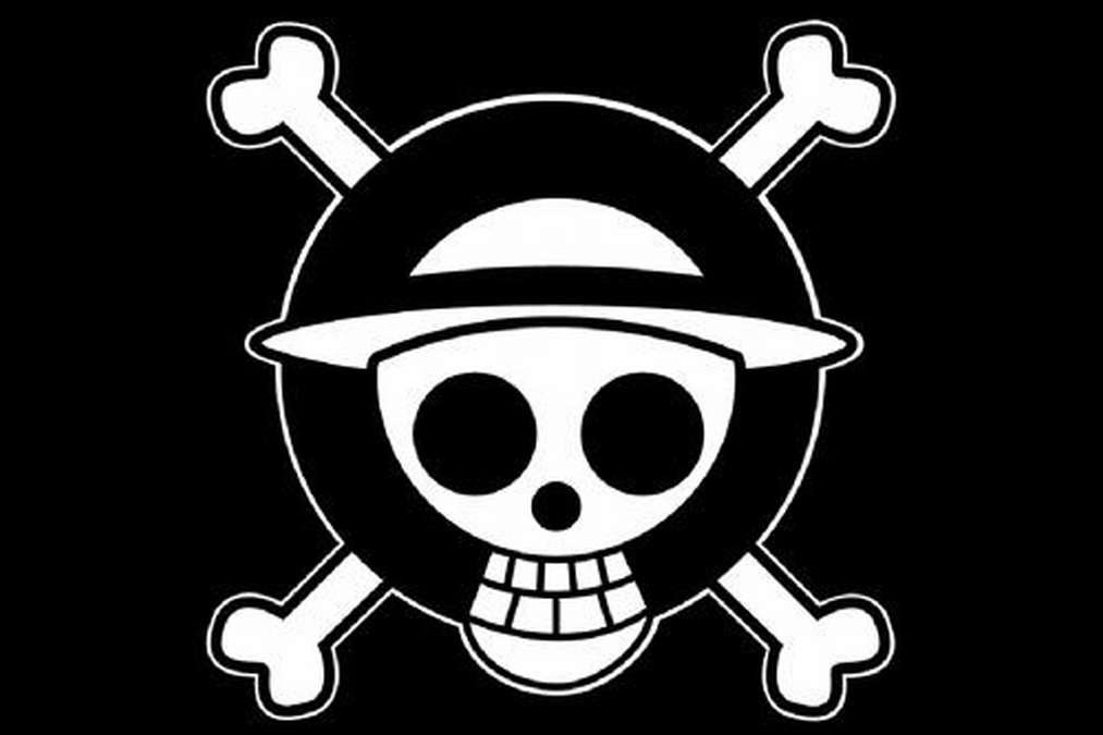 One Piece Black & White Logo