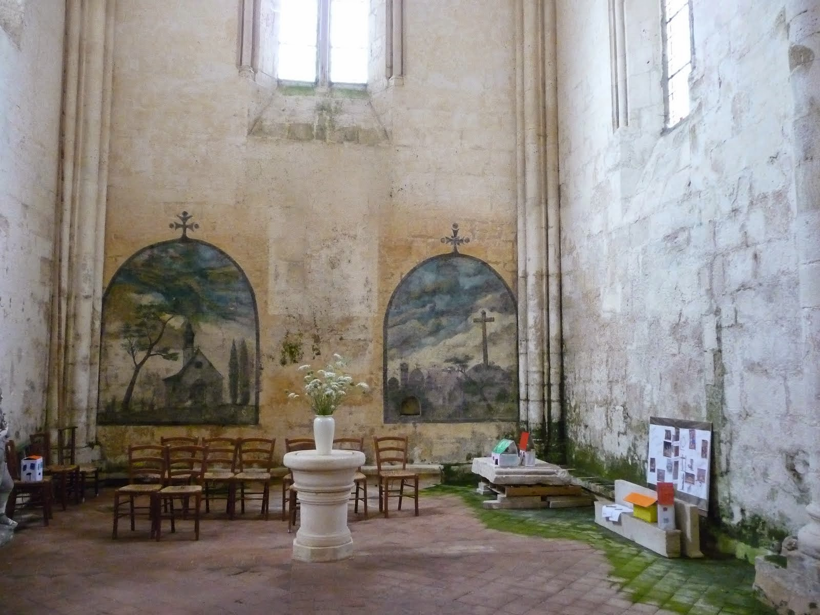 Murals in Blanzac church