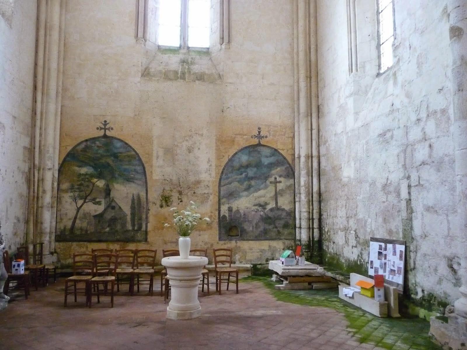 Murals in Blanzac church