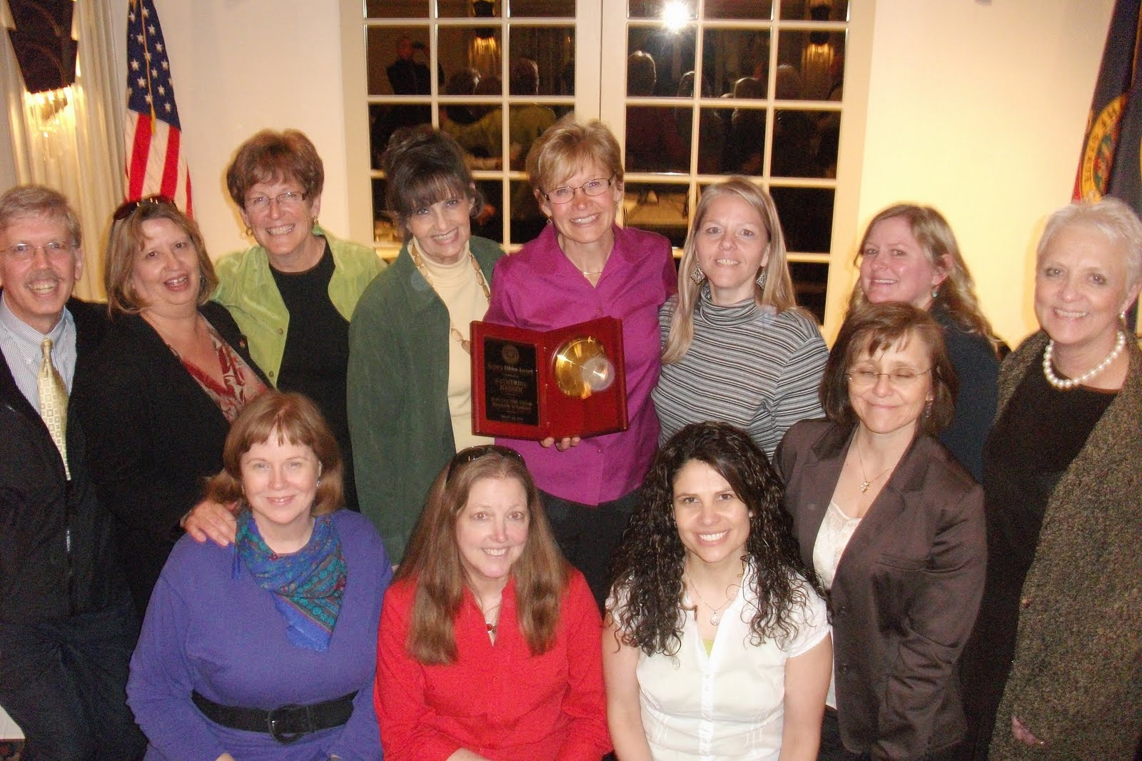 terry s rotary ramblings katherine hansen is recipient of katherine received the award in the presence of family and
