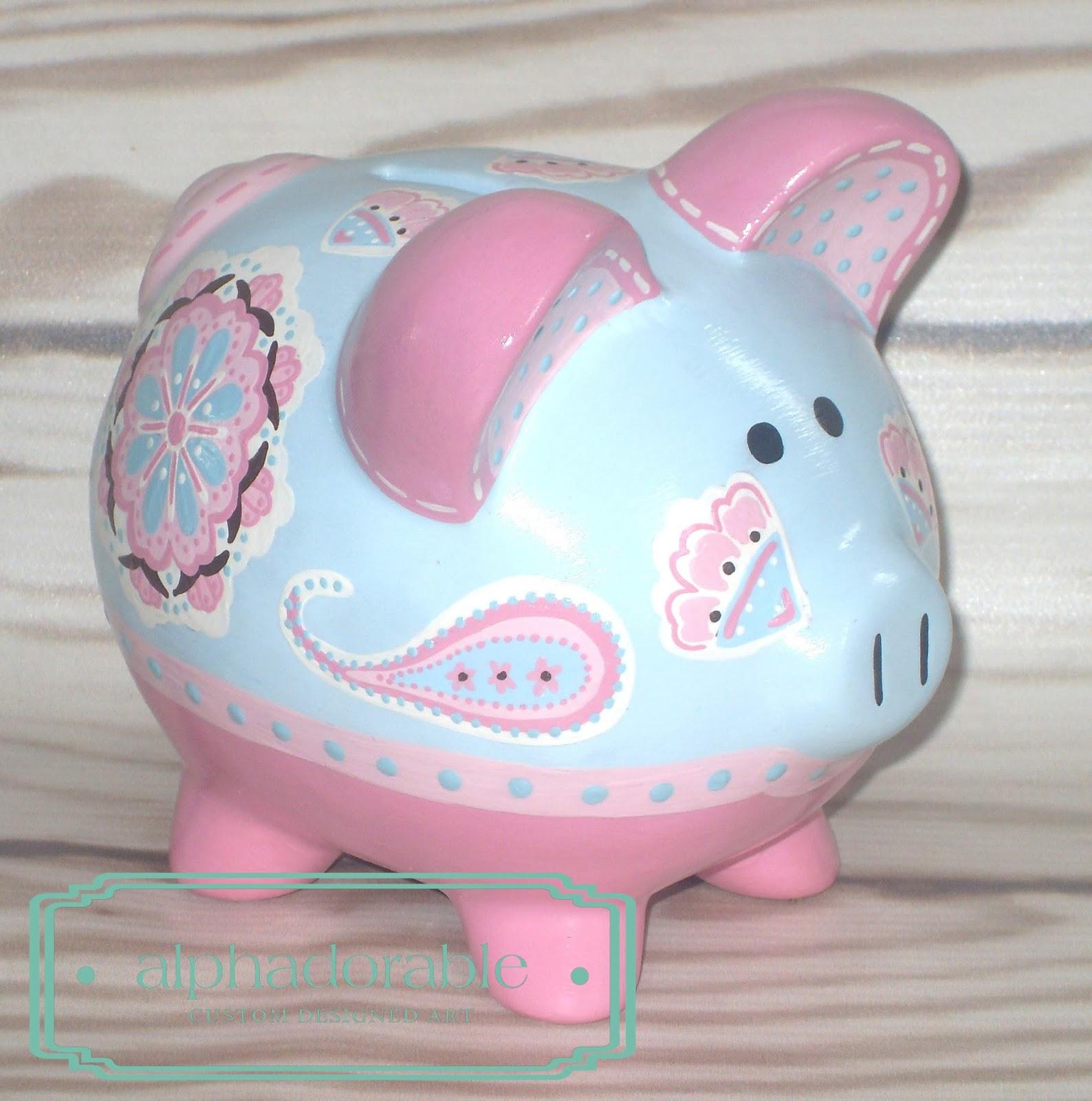 Alphadorable september 2013 for How to paint a ceramic piggy bank