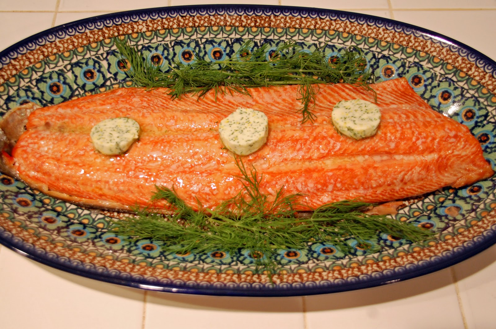 Southern Lady's Recipes: Roasted Salmon with Lemon Dill Butter