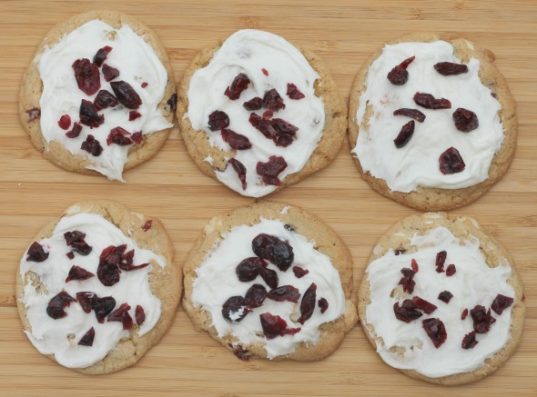 White Chocolate Cranberry Cookies | WhatchaMakinNow.com