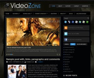 Video Zone Blogger Template