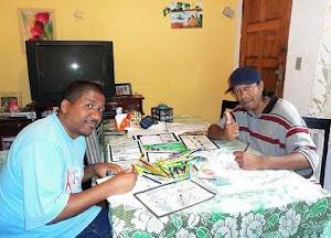 Marcelo Dopi e Valter Luis preparando novas HQ´s: