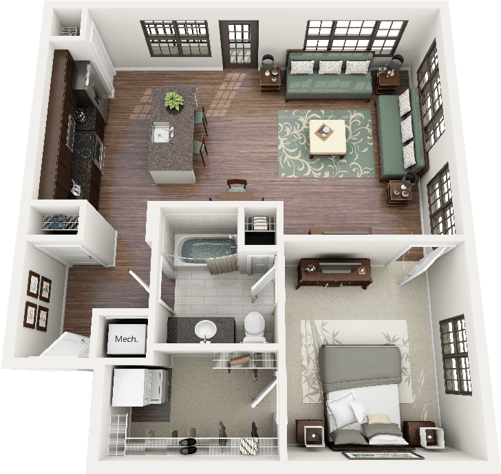 foundation dezin decor 3d residential floor layouts