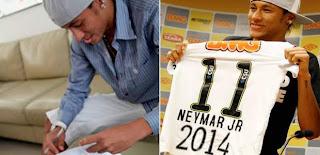 El Santos presentó el nuevo contrato de Neymar