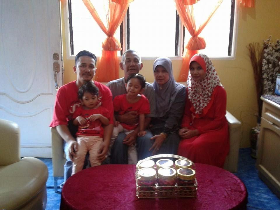 bersama family ibu Balqis N Qistina