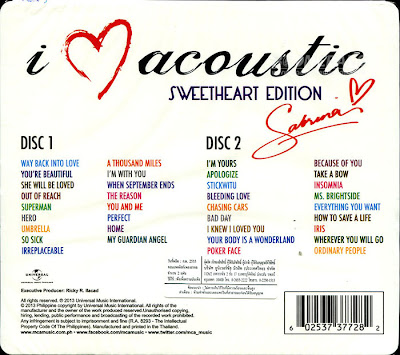 Download Sabrina – I Love Acoustic (Sweetheart Edition) 256Kbps (2013) ThaiCyberUpload 4shared By Pleng-mun.com