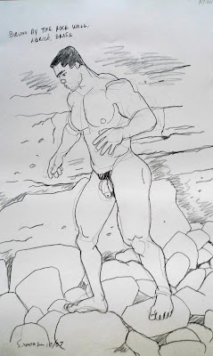 MALE DRAWING ART BLOG : DOUGLAS SIMONSON DRAWING