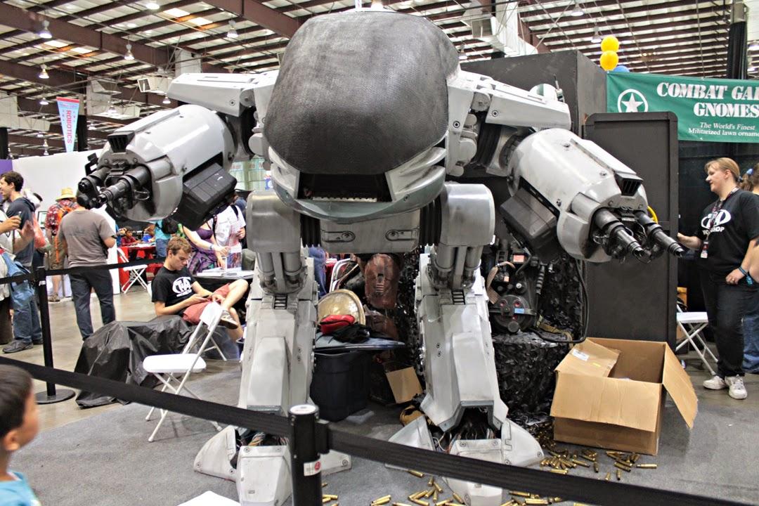 RoboCop offensive military-grade mecha menaces attendees