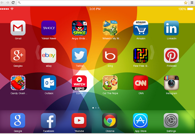 Carry Ios 7 to your Chrome, a customizable new tab page with Ios 7 style, App Store, games and that's only the tip of the iceberg. Let the fun start.