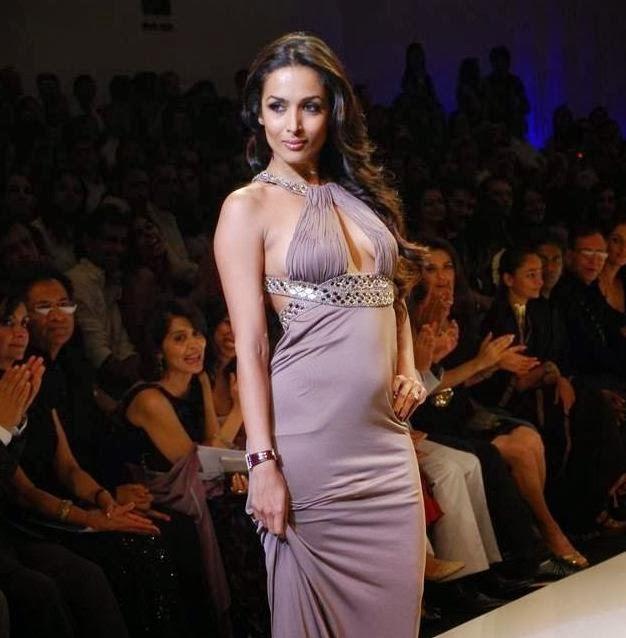 Malaika Arora Khan Walks on Ramp in Long Backless Gown