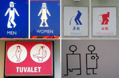 Tanda Restroom yang Unik dari Berbagai Dunia