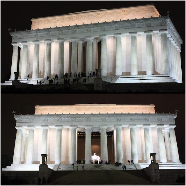 Lincoln Memorial at night in Washington DC, USA