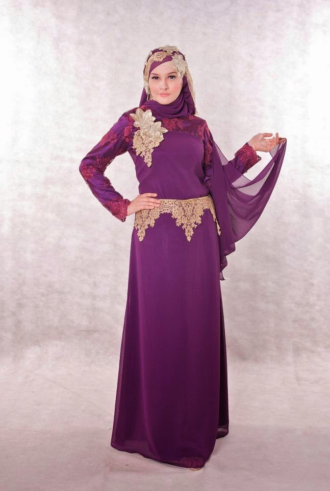 Baju Muslim Wanita Warna Ungu