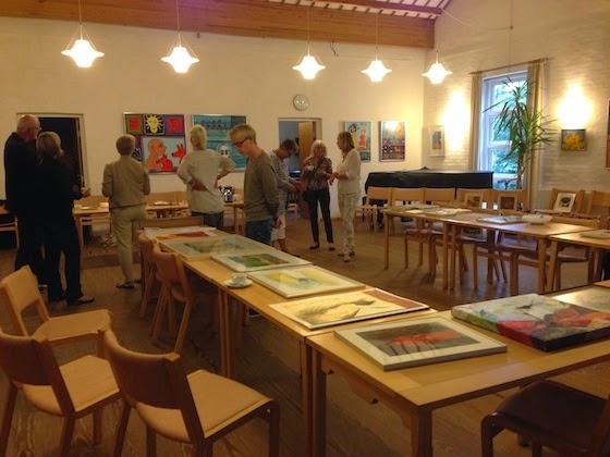Kunstbyttedag og Troels Trier-udstilling i sognehuset ved Fredens Kirke, søndag den 14. september 2014