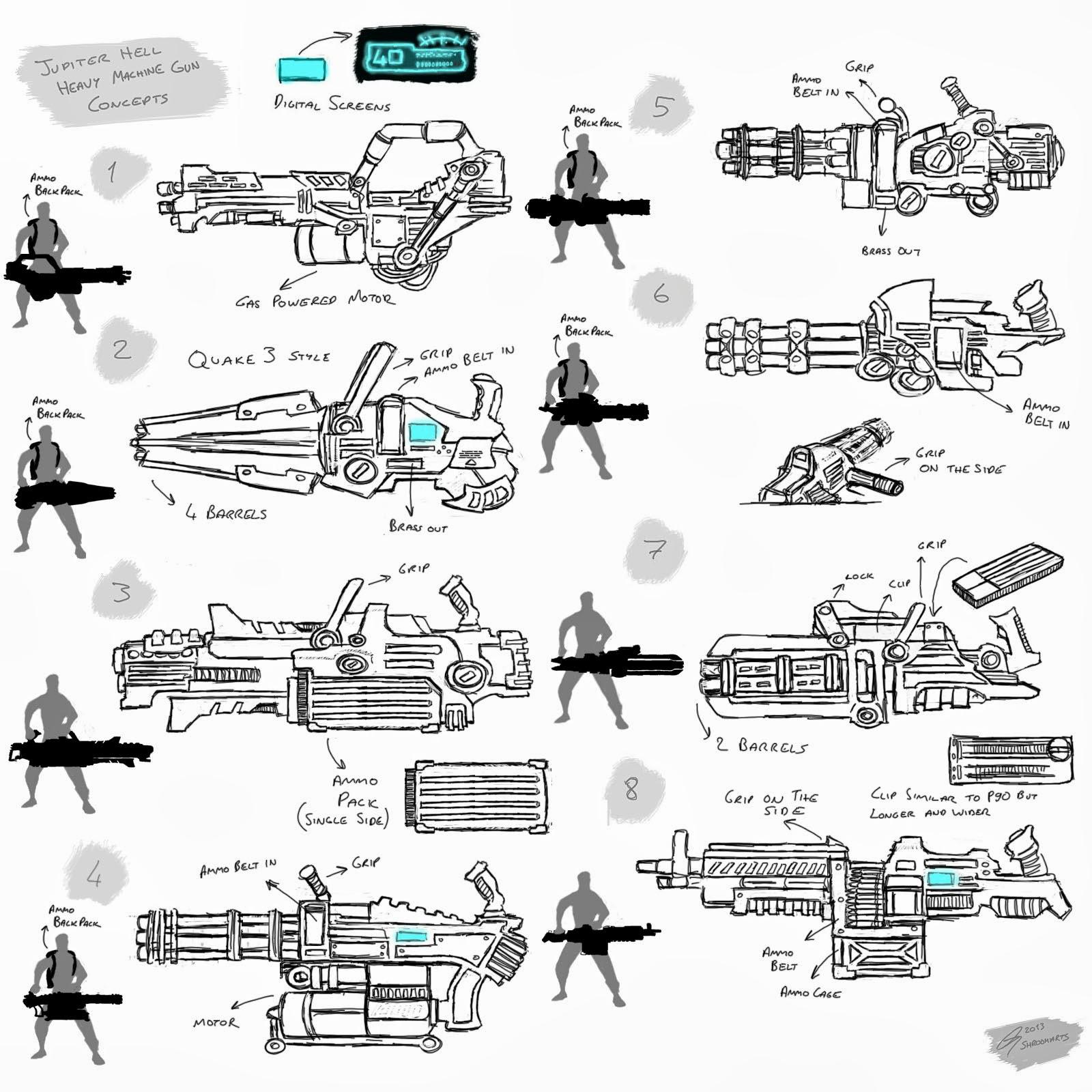 Jupiter Hell - Heavy Machine Gun concepts