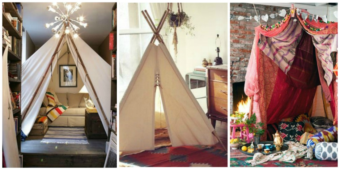 Design House Indoor decor with teepees u0026 tents & Heather Horwitz Design: Design House: Indoor decor with teepees ...