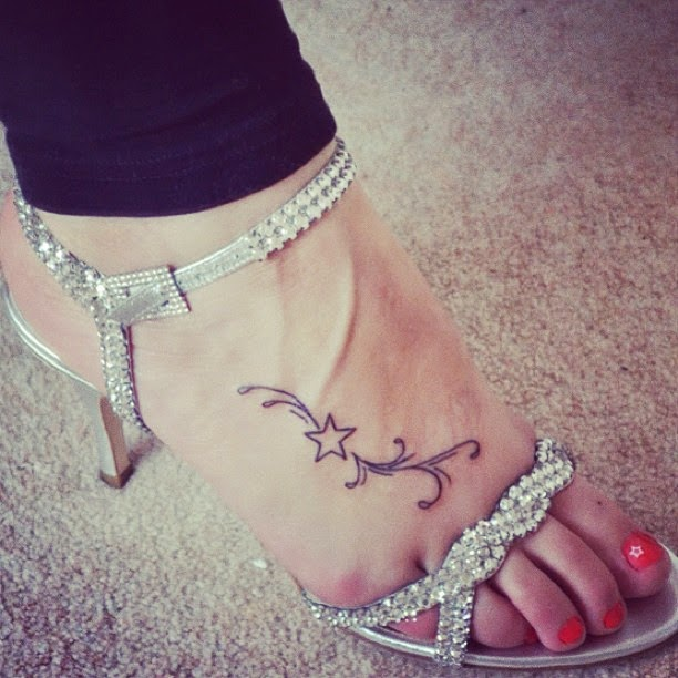 Properties Star tattoo on foot