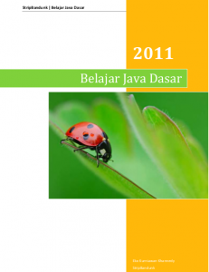 ebook java pemula, ebook java programming, belajar java