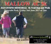 5km race in Doneraile Park organised by Mallow AC...Fri 2nd June 2017