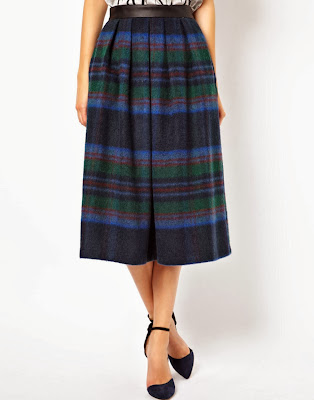 ASOS Statement Check Midi Skirt