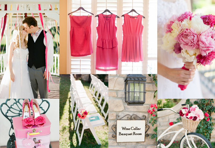 pretty in pink wedding inspirations