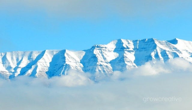 snow covered mountains: grow creative