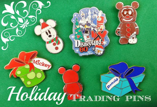 Disneyland holiday pin trading