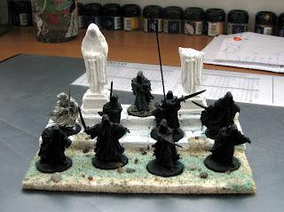 władca pierścieni makiety bitewne diorama