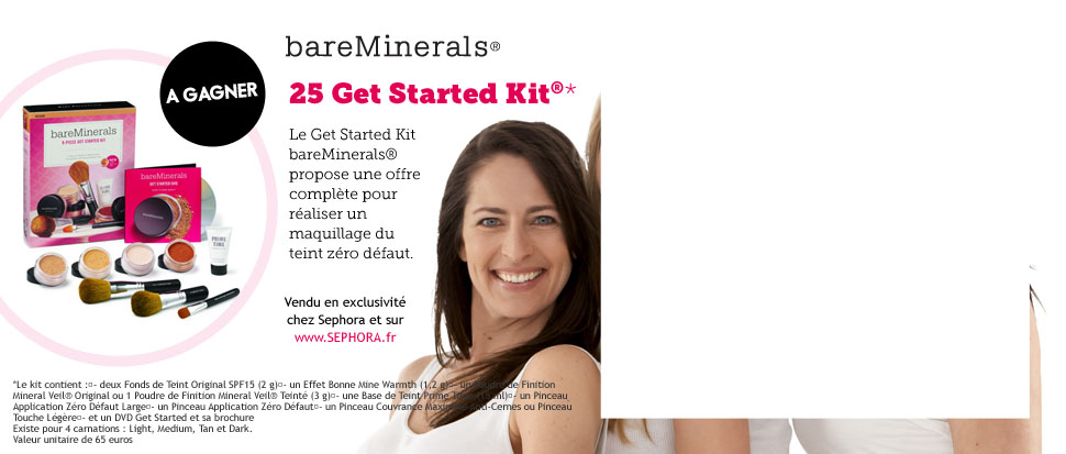 25 coffrets Get Started Kit bareMinerals