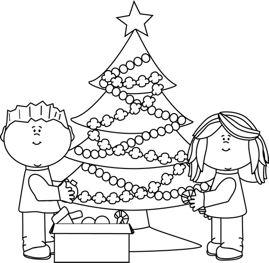 Black And White Christmas Decoration Ideas: Christmas Coloring Pages : Let's Celebrate