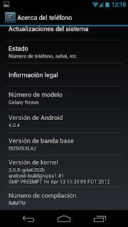 Nueva actualización no oficial para los Galaxy Nexus