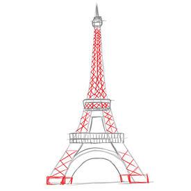 Coloriages coloriage de la tour eiffel à paris - fr.hellokids.com