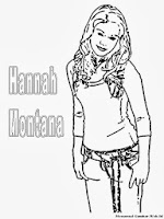 Gambar Hannah Montana Untuk Diwarnai