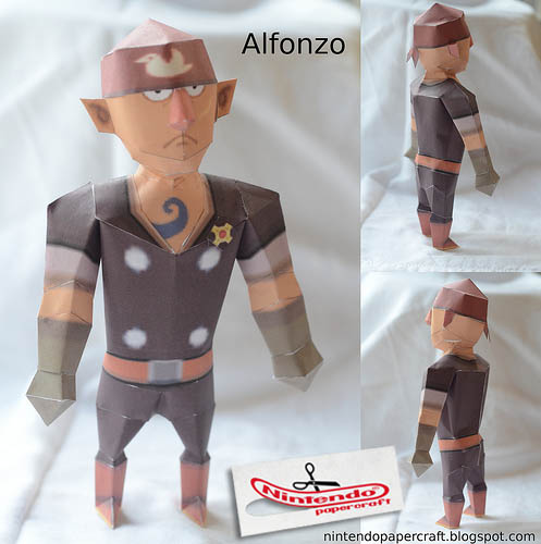 Spirit Tracks Alfonzo Papercraft