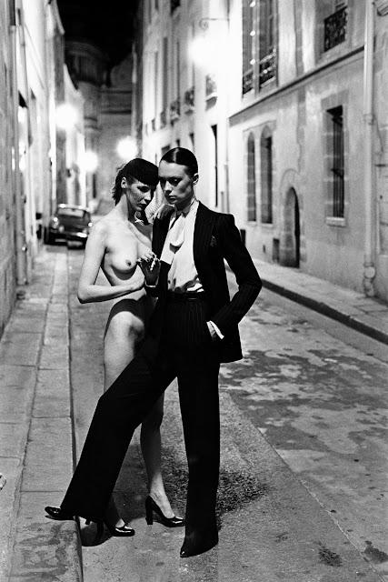Helmut Newton, French Vogue, Rue Aubriot, Paris, 1975
