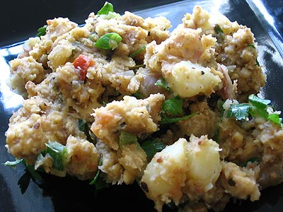 Potato-Tempeh Hash Browns with Salsa