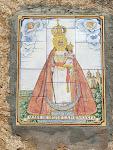 Majòlica de la Mare de Deu de la Fuensanta a la façana sud