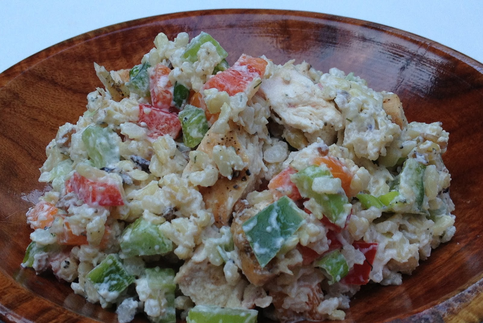 warm brown rice and grilled vegetable salad brown rice salad with ...